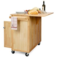 The Vinton Portable Kitchen Island with Optional Stools | www.hayneedle.com