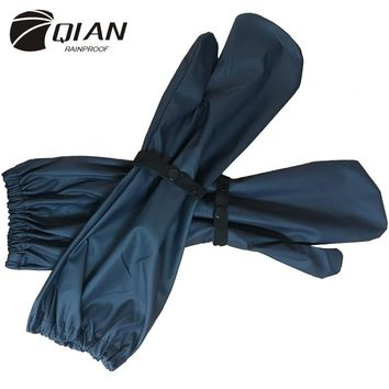 QIAN RAINPROOF New Long PU Waterproof Material Motorcycle Electric Bicycle Raincoat Accessories Windproof Rain Gloves Hot Sale