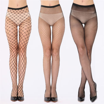2016 New Fashion Women Ladies Sexy Fishnet Stockings Female Fish Net Pantyhose Black Mesh Lingerie Sheer Tights