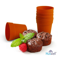 Mini Flower Pot Silicone Baking Molds Pack of 6