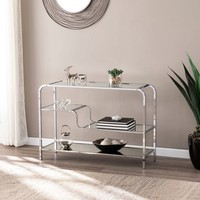 Silver Orchid Hinding Mirrored Console Table   Overstock.com Shopping - The Best Deals on Coffee, Sofa & End Tables