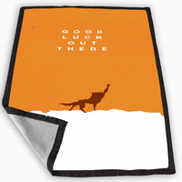 Fantastic Mr Fox quotes Blanket for Kids Blanket, Fleece Blanket Cute and Awesome Blanket for your bedding, Blanket fleece *