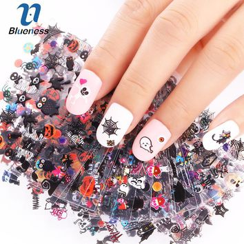 24 Sheet/Lot 3D Nail Art Stickers 24 Cartoon Design For Halloween  Manicure Accessories The Latest DIY Fashion JH280