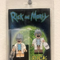 Custom Builder Block Minifigure Rick & Morty Rick
