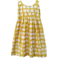 Fair Trade Toddler Sundress Yellow Stars