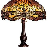 Oyster Bay Dragonfly Medium Table Lamp - Tiffany-style Lamps -  Lighting -  Table Lamps | HomeDecorators.com