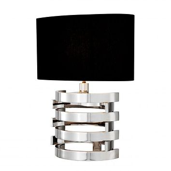 SILVER STACKED TABLE LAMP | EICHHOLTZ BOXTER - S