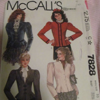 SALE Vintage Coat Pattern From the 80's! Colonial Style, Vintage, Women's, Size 10. Fall/Spring/Winter, Coats/Jackets, Classy Coats