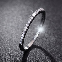 Wedding Rings Women 925 Sterling Silver Simulated Diamond Ring Jewelry Anillos = 6014702919