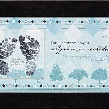 Photo Frame - For This Child I Have Prayed (Boy)