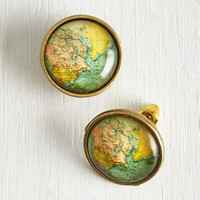 ModCloth Quirky Map Out of It! Earrings