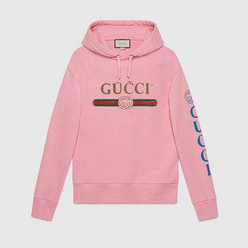 Gucci - Gucci logo sweatshirt with dragon
