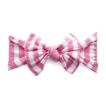 BABY BLING PATTERNED KNOT BOW HEADBAND