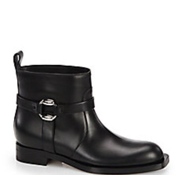 Gucci - Georgia Buckle Moto Boots - Saks Fifth Avenue Mobile