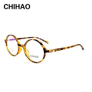 CHIHAO High Quality Glasses Men Retro Vintage Anti Blue Ray Prescription Glasses multi-focal Optical Spectacle Frame Round 17025