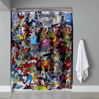 Disney All In One Collage Edition Shower Curtain High Quality 60 x 72