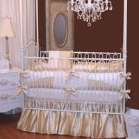 Royal Palace Crib Bedding | Gold and Ivory Baby Bedding