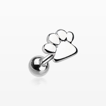 Puppy Paw Cartilage Tragus Barbell