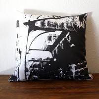 Urban Throw Pillow Style no15 CHICAGO Pillow Cover by NestaHome