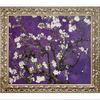 Branches of an Almond Tree in Blossom by La Pastiche Framed In Amethyst Purple