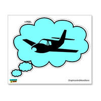 Thinking of Airplane Flying Pilot Sticker