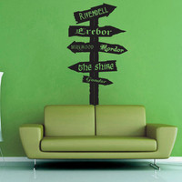 Tolkien Road Sign No 2 - Wall Decal