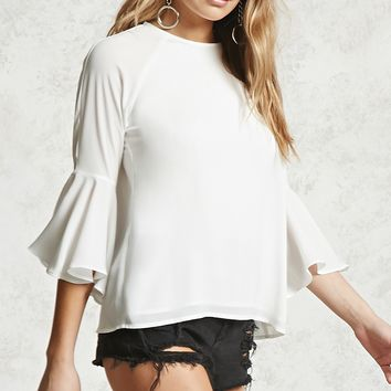 Contemporary Bell Sleeve Blouse