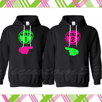 "Matching ""Weirdo 1"" & ""Weirdo 2"" Hoodies for two!"