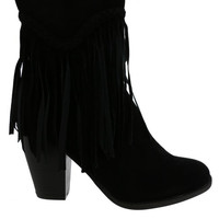 Waverly Fringe Booties FINAL SALE