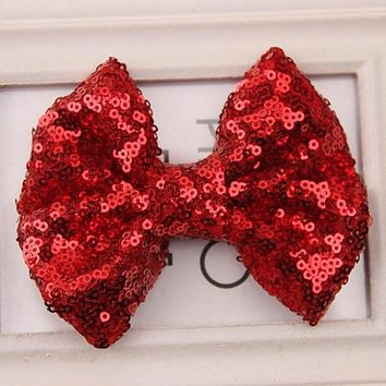 1PC Baby Girl Kids Infant Toddler Sequin Bowknot Flower Hair Clips Hairpins Barrettes Hair Band Accessories