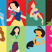 Disney Princesses Stretched Canvas by Adrian Mentus | Society6