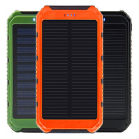 5000mAh Backup Power Bank Solar USB Charger + LED Light Universal Powerbank Portable External Battery Mobile Phone Powers
