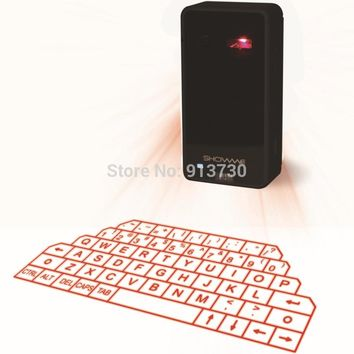 Virtual Laser Keyboard and Mouse for iPad iPhone tablet  with Mini Bluetooth Speaker Wireless Bluetooth Keyboard Voice Broadcast