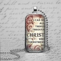 Philippians Bible Verse Necklace I Can Do All Things