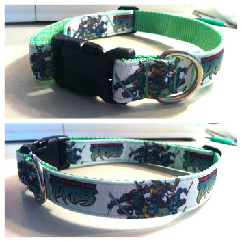 Custom Teenage Mutant Ninja Turtles dog collar TMNT