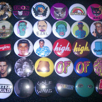 Odd Future OFWGKTA Buttons set of 10