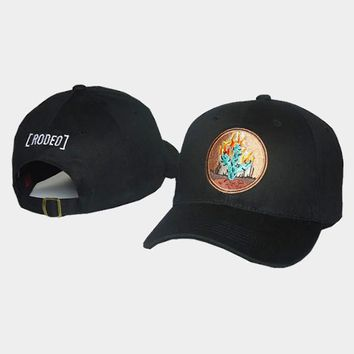 cc auguau Travis Scott Madness Tour Rodeo Cactus Black Hat
