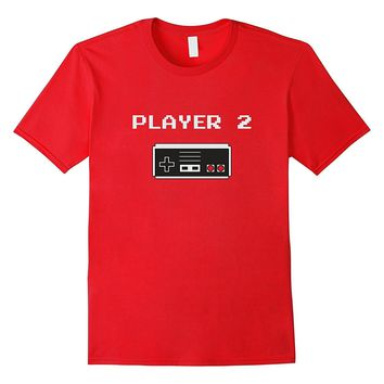 Player 2 buddy Retro style video game T-shirt (Old School)