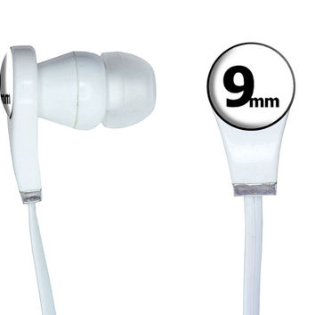 9mm Gun Weapon Bullet In-Ear Headphones