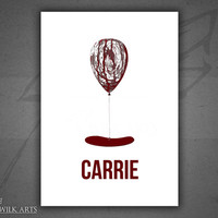 Carrie horror movie poster print