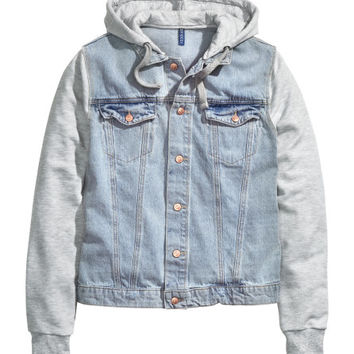 Hooded Denim Jacket - from H&ampM from H&ampM