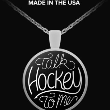 Talk Hockey To Me Necklace thtmnecklace