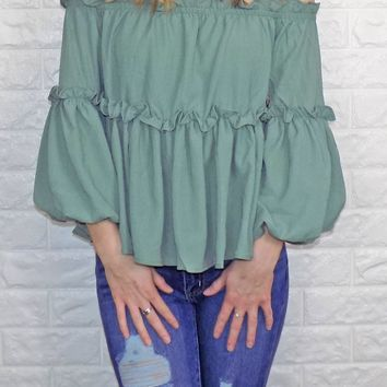 Serious About Spring Top {Sage}