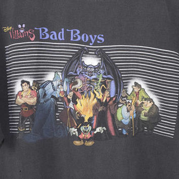 disney bad boys shirt - vintage 90s - villains