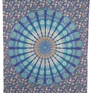 Hippie Mandala Wall Tapestry, Indian Dorm Decor, mandala tapestry, Psychedelic Tapestry Wall Hanging Ethnic Decorative