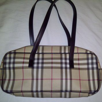 Burberry Check Coated Bag for Women