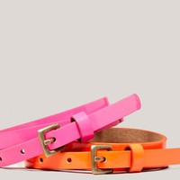 AEO Women's Neon Belt Set