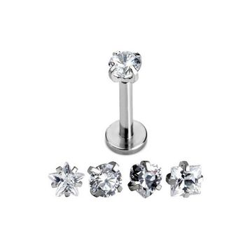 Clear CZ Star Tragus Lip Monroe Ear Triple Cartilage Helix Stud Earring