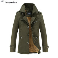 New Fashion Thicken Men Trench Coat Winter Warm Long Outerwear Casual Men jackets With Big Size M-5XL Men Overcoat