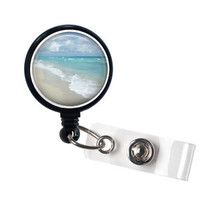 Beach Retractable Badge Holder, Id Badge Reel, ID Badge Holders